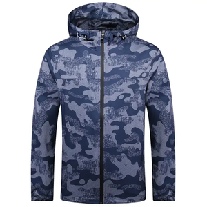 Vendita calda camouflage zip up water resistant pullover giacca a vento