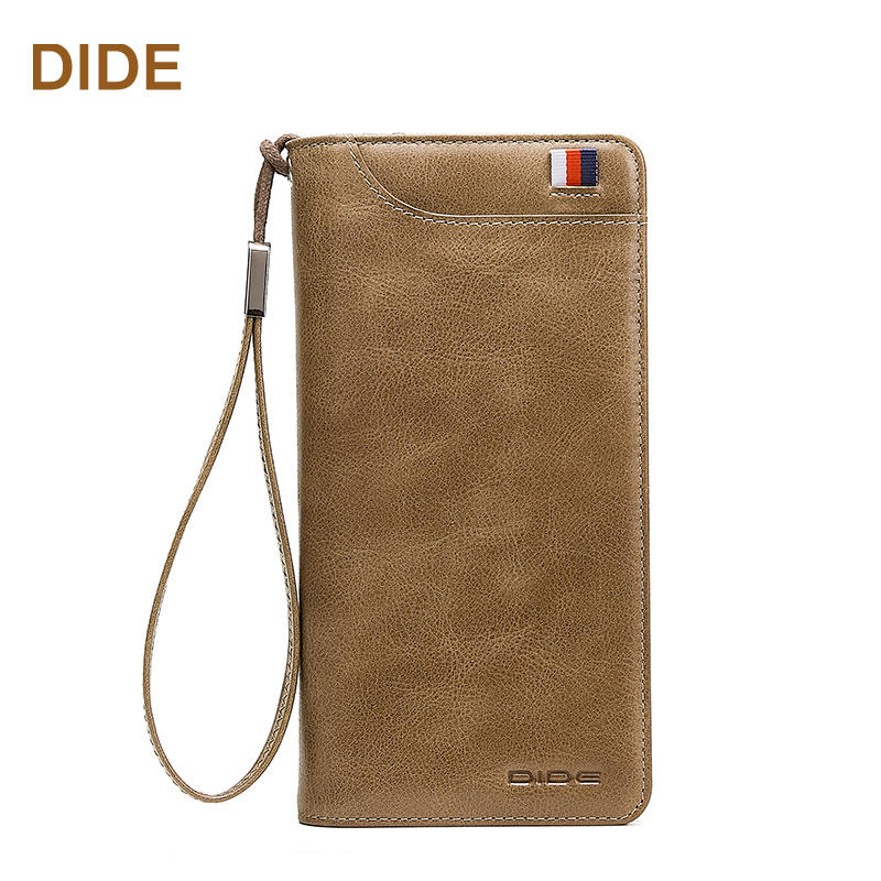 2019 DIDE High Quality Long Wallet Genuine Leather Mens Fancy Wallet