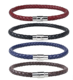 Wholesale 5Mm Silver Clasp Braided Real Leather Bracelet For Men
