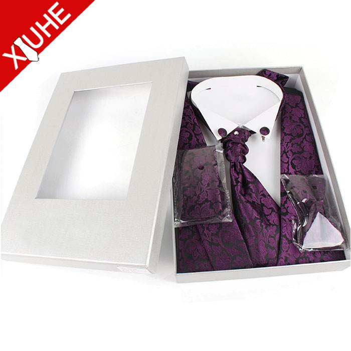 custom new purple formal stylish wedding suit traditional waistcoat with tie