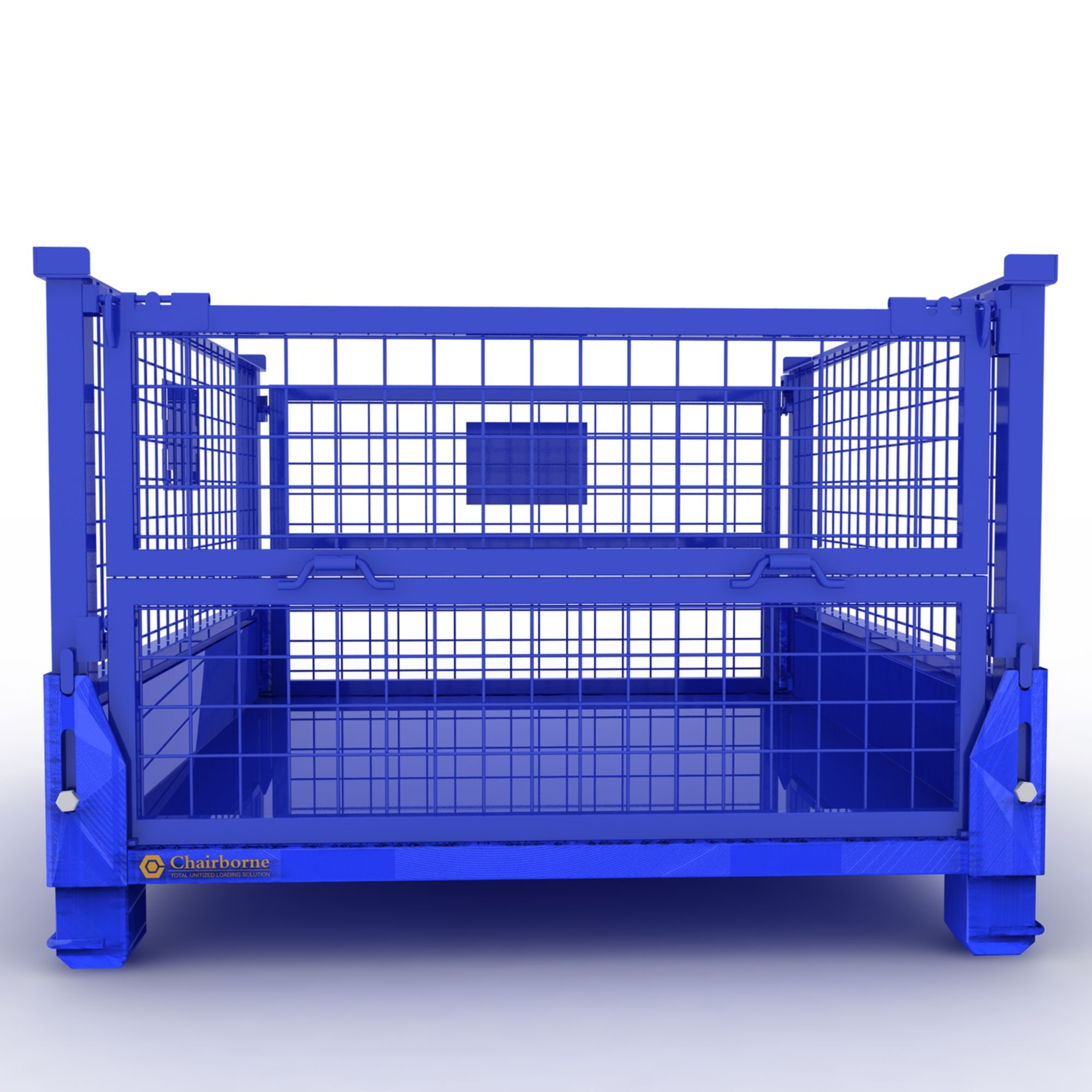 Warehouse wire mesh folding steel lockable storage roll cage