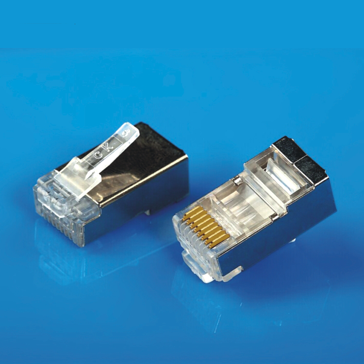 XL-514 <span class=keywords><strong>Cat6</strong></span> <span class=keywords><strong>RJ45</strong></span> Modular Connector Plug Shield <span class=keywords><strong>FTP</strong></span> 금-plated 두 번 배 줄 선 홀 대 한 <span class=keywords><strong>FTP</strong></span> CAT5E <span class=keywords><strong>CAT6</strong></span> Cable
