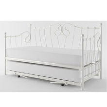 White Indoor Furniture trundle Wrought Iron Daybed Y