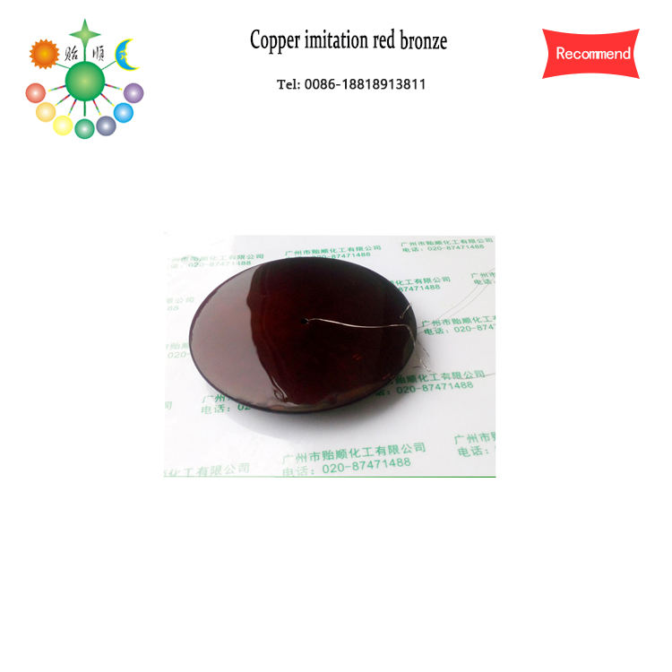 Red-bronze was colored on the brass Chemical coloring agent Brass coloring agent