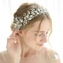Pure handmade headdress bride freshwater pearl wedding flower hair accessories