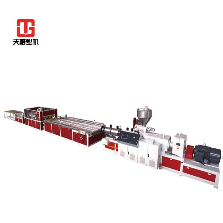 PVC Marble Sheet Machine SJSZ80/156 Conical Twin Screw Extrusion Production Line