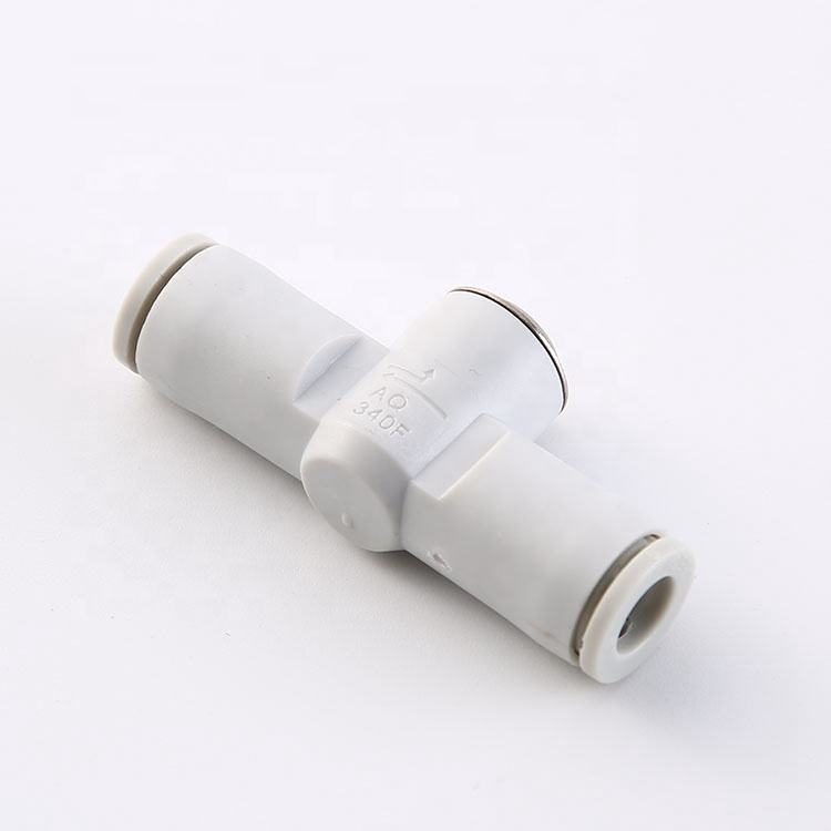 AQ240F-06 plastic T type push to connector pneumatic air quick fitting