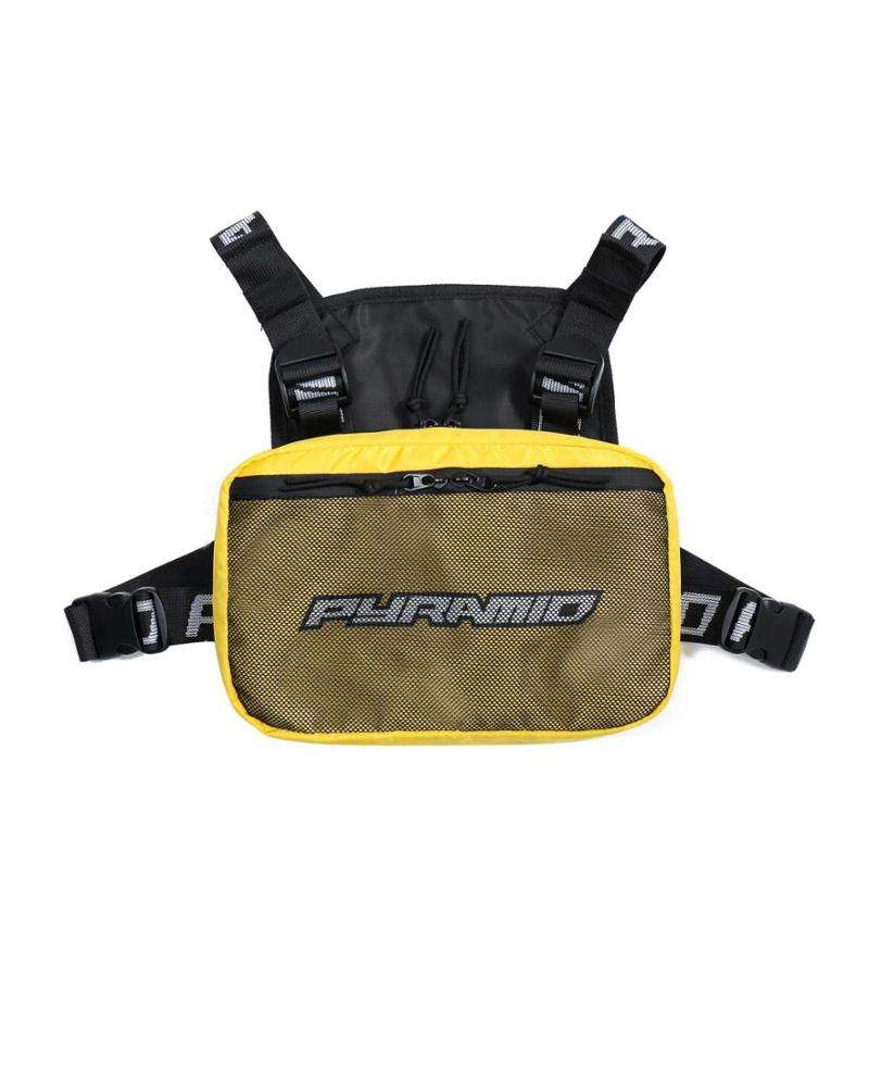 Hot sell sport and outdoor harness style front pack pouch chest utility bag for men