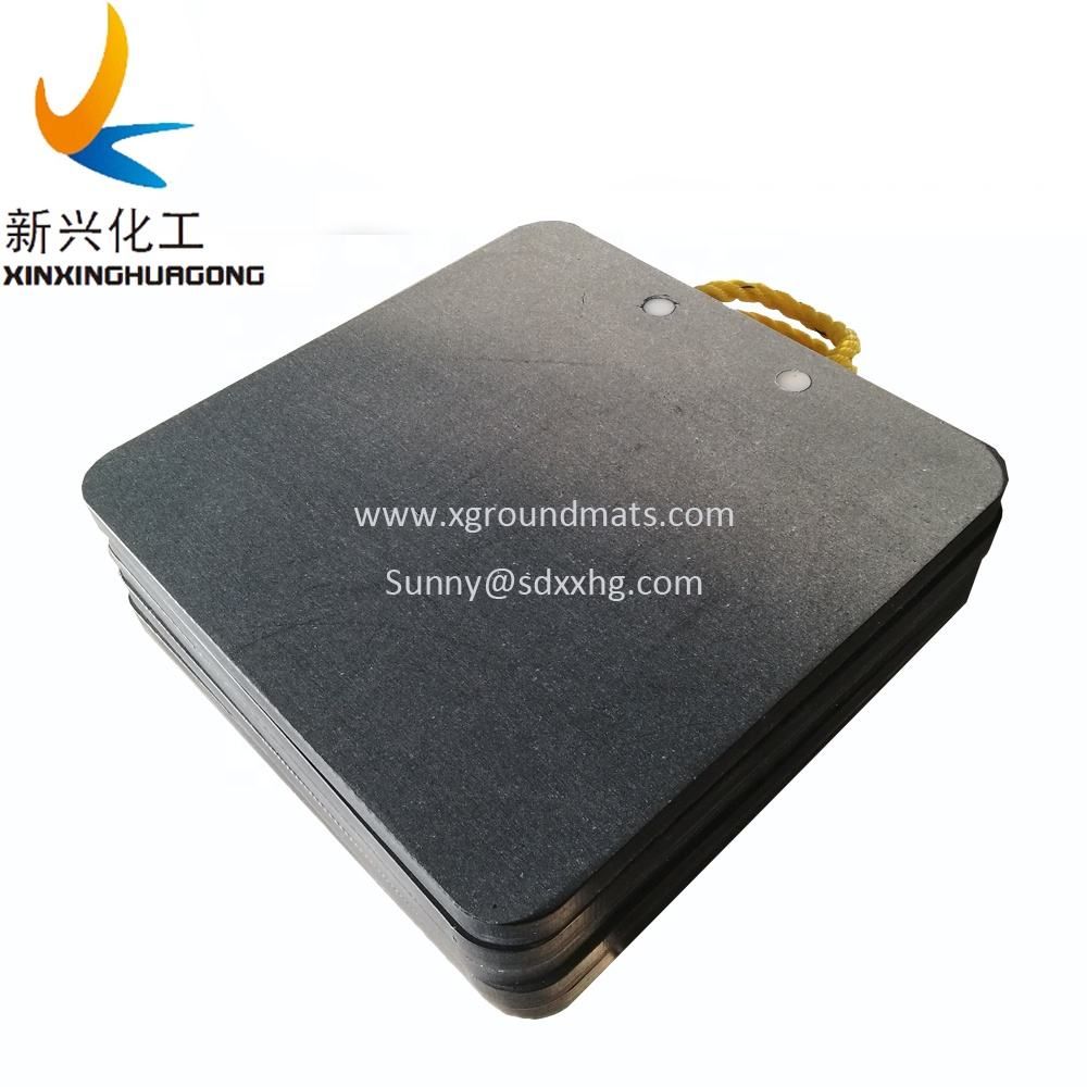 Impact stregth uhmwpe sheet for crane mat, mobile outrigger pad crane support pad, trailer stabilizer pad