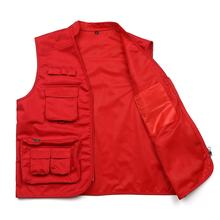 High quality wholesale breathable mesh mens vest outerwear men's workwear multi pocket men cargo vest work vest