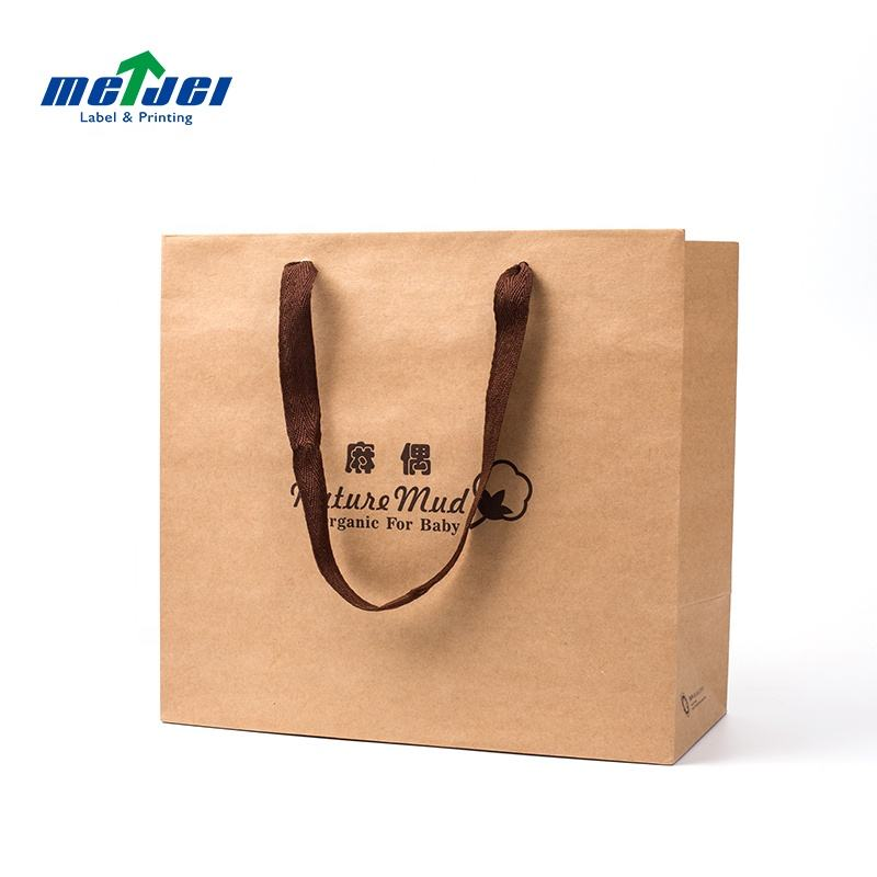Best price brown apparel presentation handle paper bag