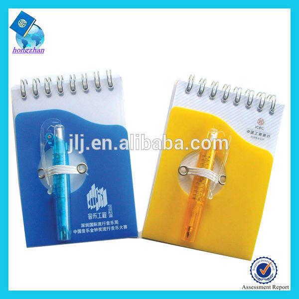 الترويجية دفتر دوامة مع حامل القلم