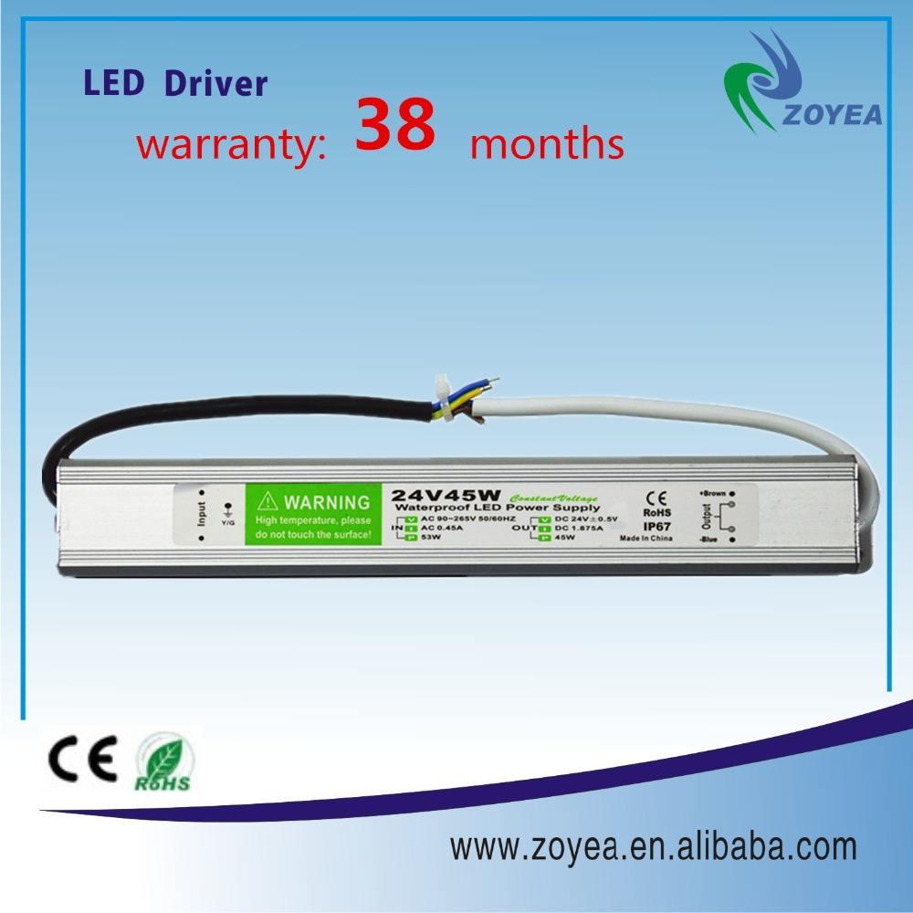 45 w led ampul için sürücü su geçirmez elektronik led sürücü 90 v 265 v