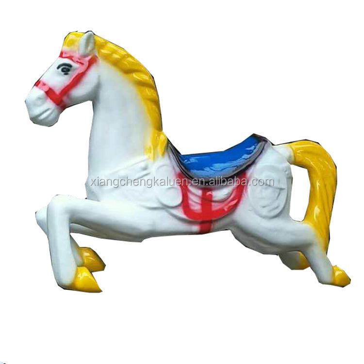 Hot sale factory price fiberglass kids carousel horse