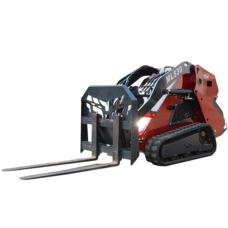 Vendita calda mini pale gommate, skid steer <span class=keywords><strong>loader</strong></span> ML525 con forche pallet