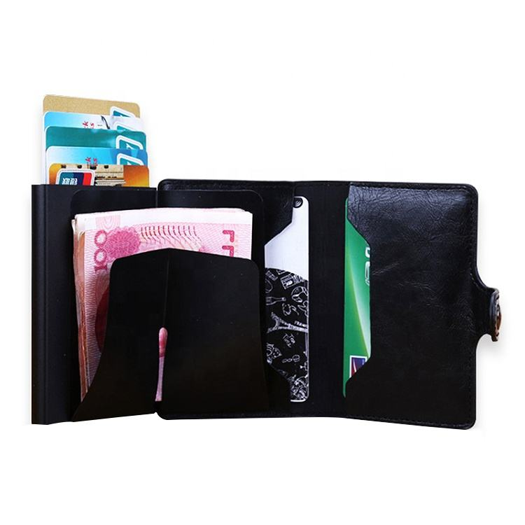 공장 OEM (high) 저 (quality faux leather RFID 알루미늄 card holder credit card RFID 지갑