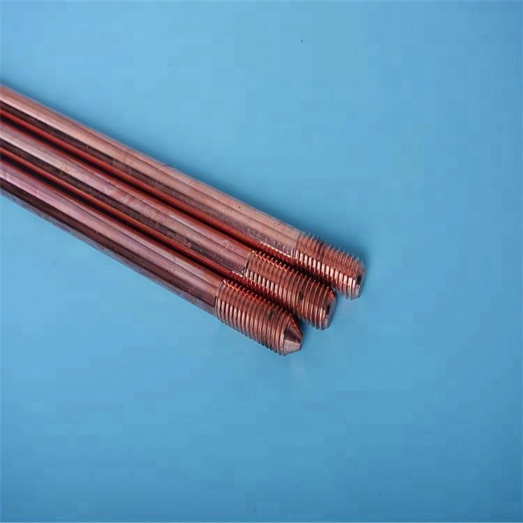 Copper clad steel earth rod with thread on both sides for earthing material