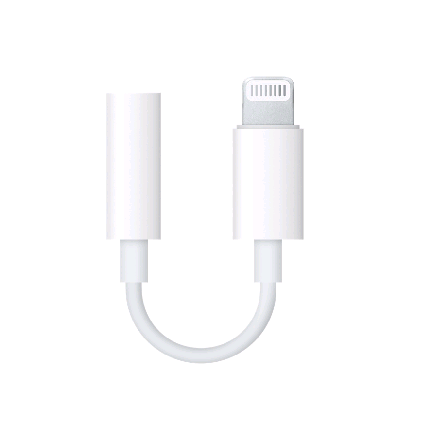 Kabel Headphone MFi, Pencahayaan Ke 3.5Mm Adaptor Jack Headphone Tpe Putih untuk Iphone Ke Aux