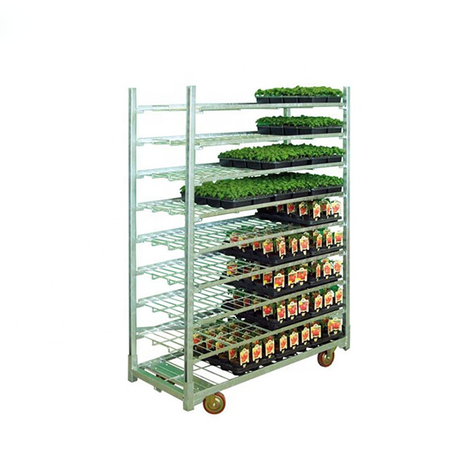 Greenhouse GardenFlower Display Cart with Wheel Mover Trolley