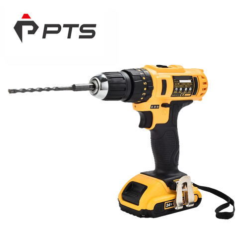 Lithium battery 24V rechargeable cordless drill one charger two battery
