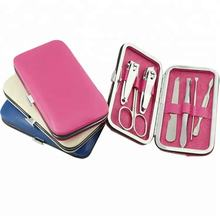 Factory price wholesale nail manicure set custom manicure pedicuare set for 7pcs tools per set