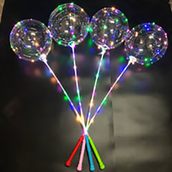Amazon 18 Inch High Quality Transparent Bobo Wedding Party Decoration LED Light Balloons