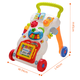 Top quality education intelligence plastic musical baby walker