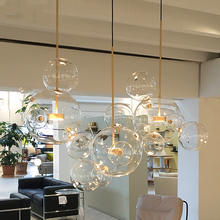 Glass Globe Led Hanging Lamp Fixtures Indoor Lighting Lustre luminaria Suspend Lamp Modern Bolle Lamp Led Pendant Light