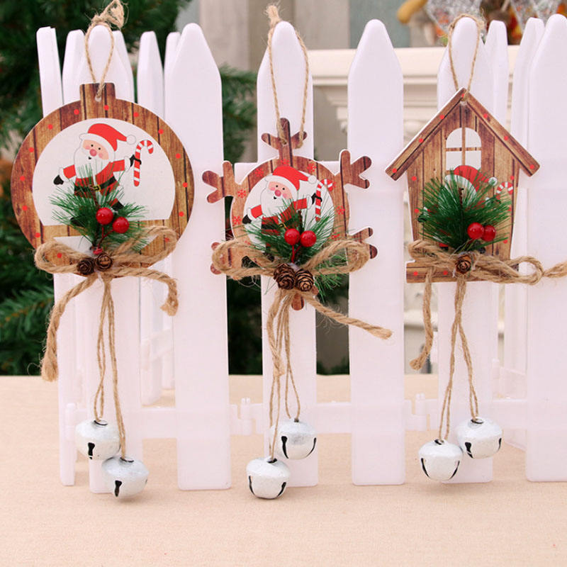 2019 Craft christmas trees decoration Santa Claus Jingle Christmas Scene Layout Decoration Christmas Jingle Bell