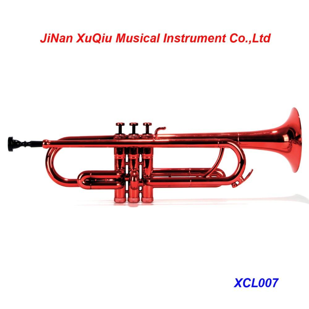 Popular Red Color Bb Key Trumpet in Great Quality