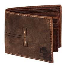 Handmade RFID Blocking Genuine Leather Wallets with Coin Pocket Card Pockets for Billfolds