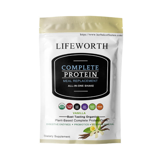 Lifeworth 24g plant based protein meal replacement powder private label shakes ready to drink