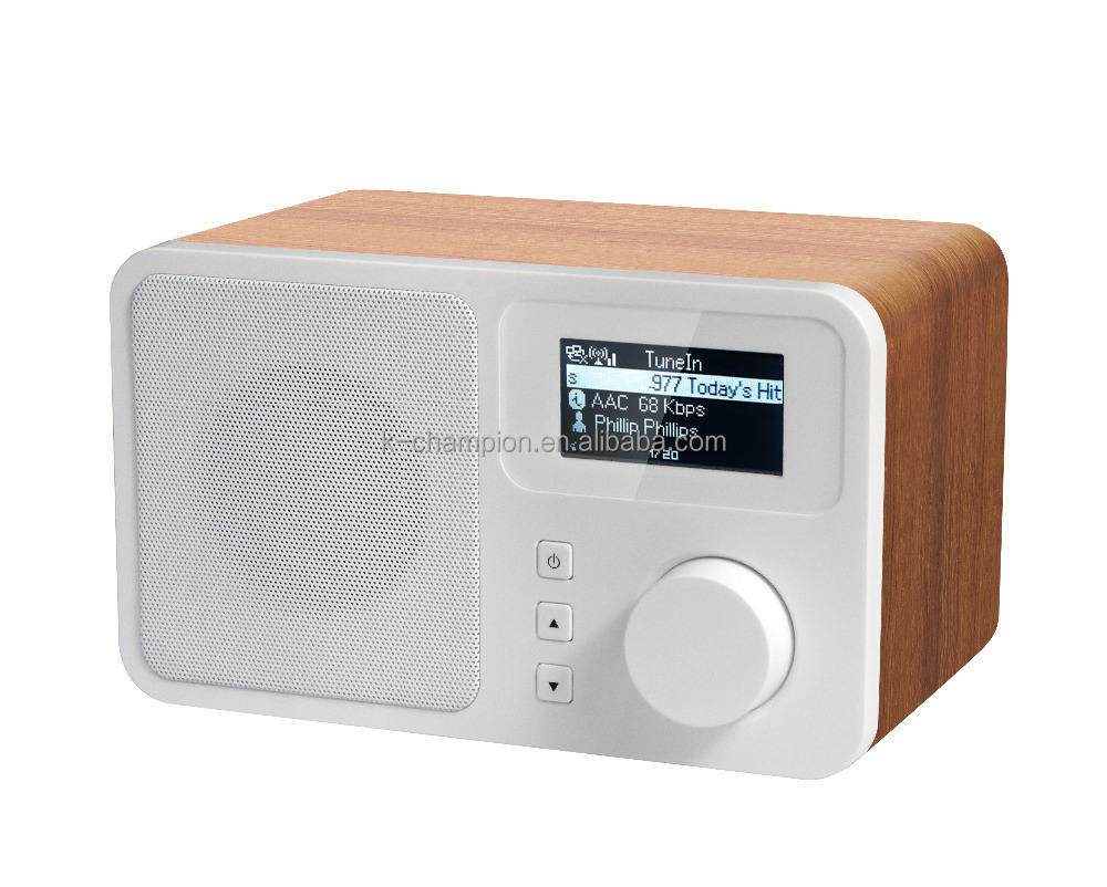Simple Style Wooden case 3W RMS wifi radio receiver internet radio
