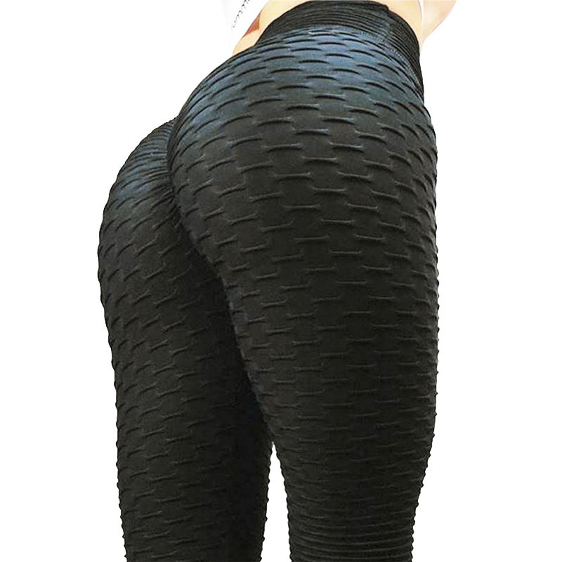 Polyester Ankle-Length Standard Fold Pants Elasticity Keep Slim Push Up Fitness Female anti-cellulite Legging
