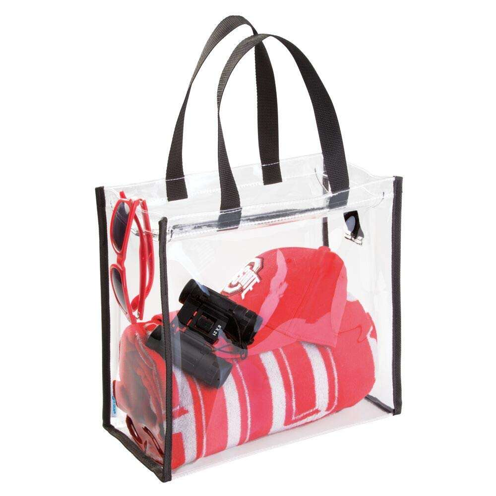Custom Clear Plastic Cosmetic Toiletry Beach Transparent Shopping Tote PVC Bag with Zipper