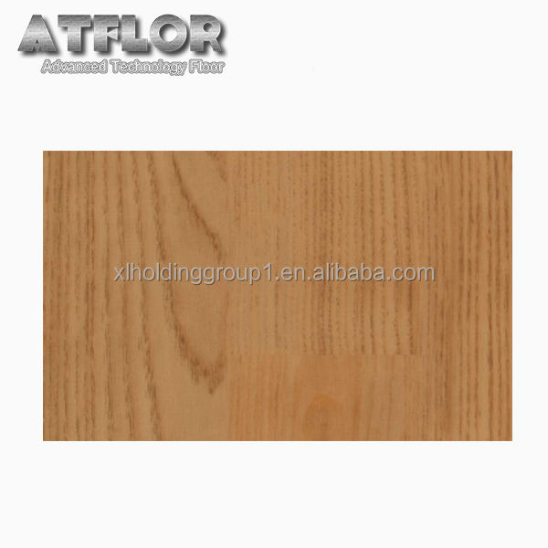 ATFLOR heterogeneous closed back maple wood vinyl flooring sheet for shopping mall