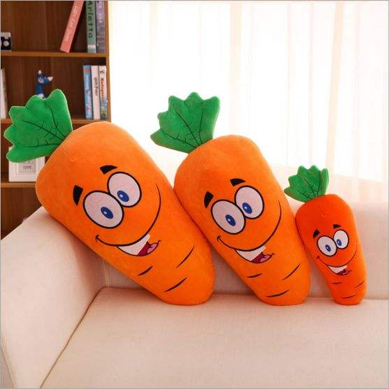 Simulation carrot shaped lycra sofa pillow
