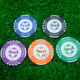 Poker Chip Golf Plastic Poker Chip Ball Markers / Printing Sticker On Both Side Plastic Ball Marker