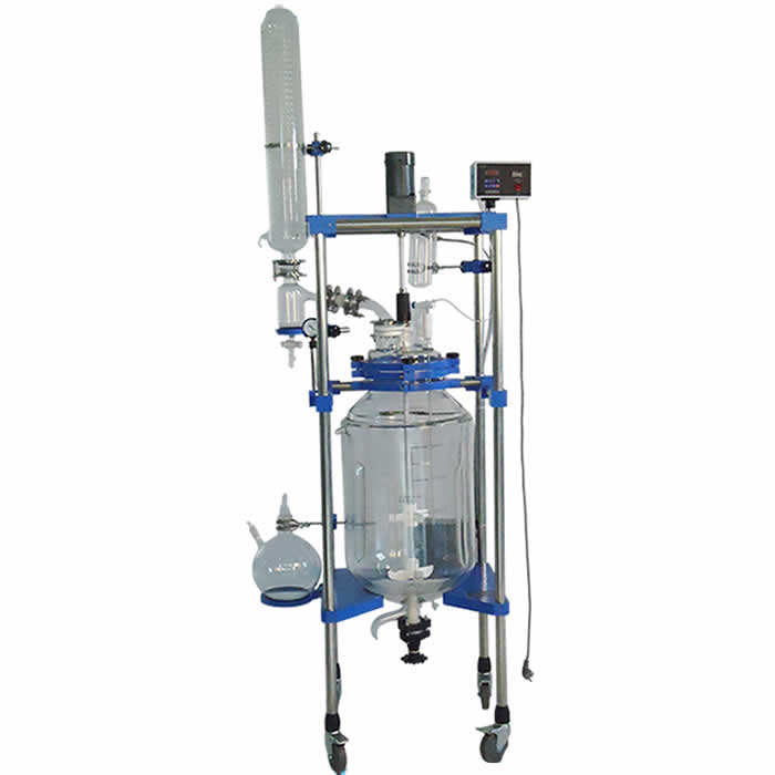 Dual glass reactor vessel /Chemical process reaction with External Heating&Cooling equipment for Lab &Pilot plant
