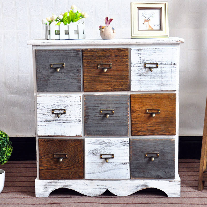 Modern Appearance and Paulownia Wood Type Cabinet
