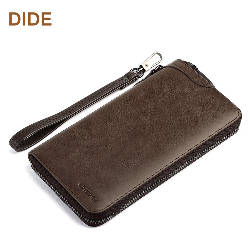 Genuine Leather Wallet Long Card Holder Wallet Men Phone Wallet For Gift Style