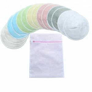 Contoured Reusable Bamboo Breast Nursing Pads For Mum Washable Waterproof Pregnant 14cm 12cm 10cm Bamboo Fabric 3 layers