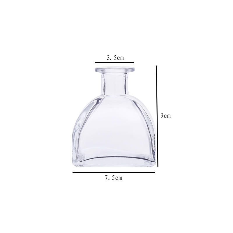 50ml 100ml 150ml 250ml wholesale high quality luxury flint ger shape aroma reed diffuser glass bottle with glass top
