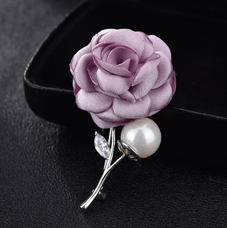 High Quality Brooch Pins Wedding Accessory Evening Dress Prom Party Bridal Pearl Zirconia Fllower Brooches