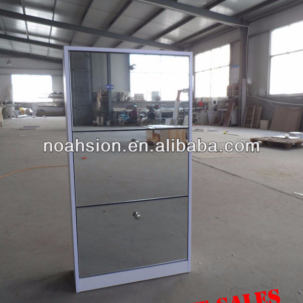 Hot sold in many countries modern shoes cabinet with a mirror