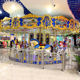Outdoor amusement park rides antique sea carousel horse merry go round in shopping mall