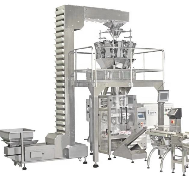 Vertical form fill seal multi head namkeen packaging machine
