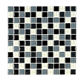 Glossy decoratave black and white strip crystal glass mosaic pool crystal paving mosaic
