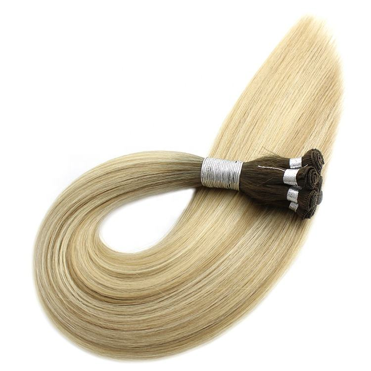 Double Drawn Handtied Weft Human Hair Extensions Luxury Hair Extensions 100% Unprocessed Human hair