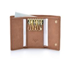 Factory Fast Supply  Excellent Handmade Genuine Leather Key Holder Wallet for Multiple Keys